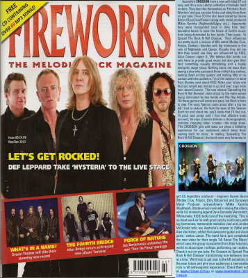 Aricel in Fireworks Magazine UK Nov  / Dec 2013